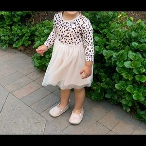 Pink leopard and tulle dress